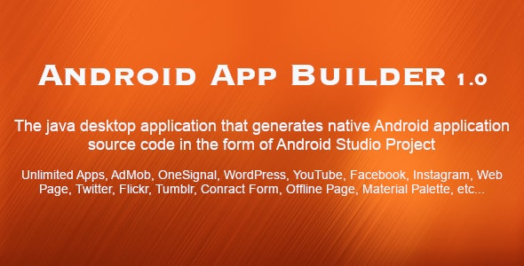 Android App Builder by zeymur | CodeCanyon