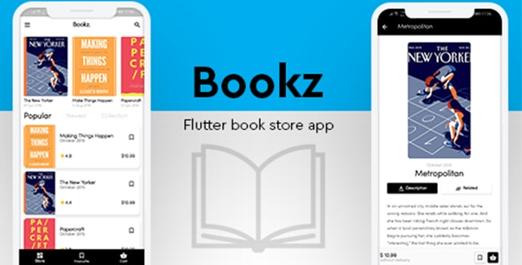 Bookz - Flutter Book Shop App - CodeCanyon Item for Sale