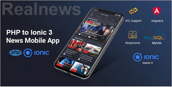Real News - PHP To Ionic 3 Mobile App - CodeCanyon Item for Sale