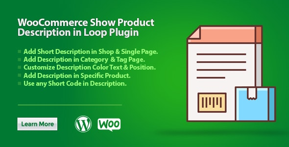 WooCommerce Show Product Description in Loop Plugin - CodeCanyon Item for Sale