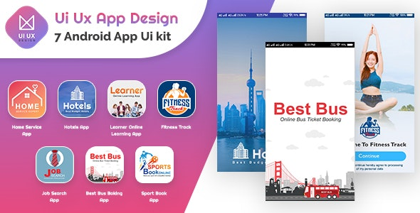 Android UI - 7 App UI Templates - CodeCanyon Item for Sale