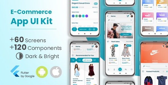 E-Commerce Flutter App UI Kit - CodeCanyon Item for Sale