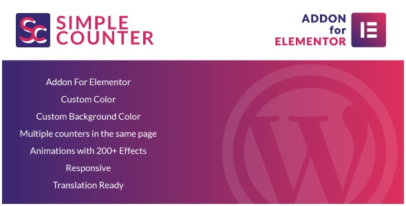 Simple Counter for Elementor WordPress Plugin - CodeCanyon Item for Sale