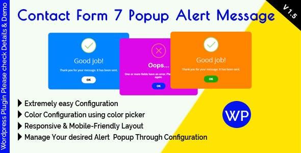 Contact Form 7 Popup Alert Message