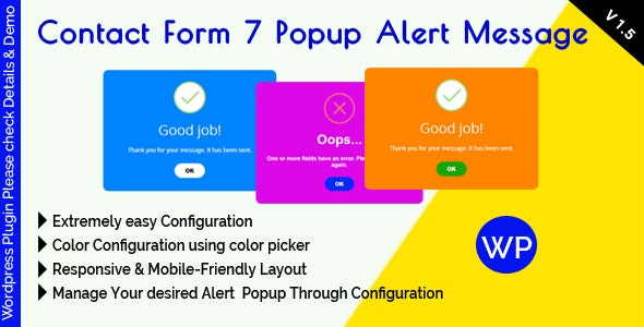 Contact Form 7 Popup Alert Message by mgscoder | CodeCanyon