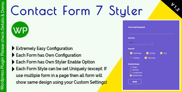 Contact Form 7 Styler - Make Form Stylish Using Custom Design