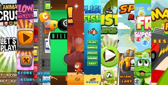 10 BEST HTML5 GAMES!  (Construct 3   Construct 2   Capx) - CodeCanyon Item for Sale