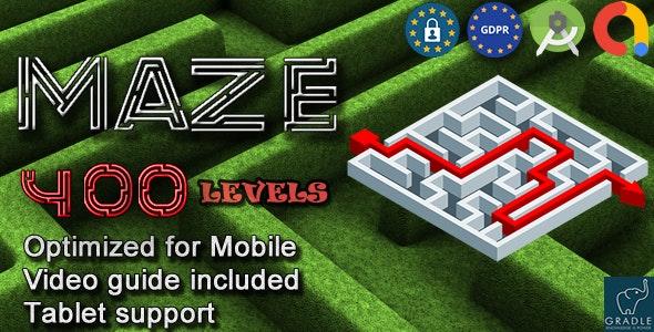 Maze 400 (Admob + GDPR + Android Studio) - CodeCanyon Item for Sale