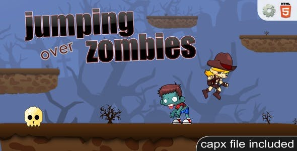 Jumping over zombies - HTML5 Casual Game