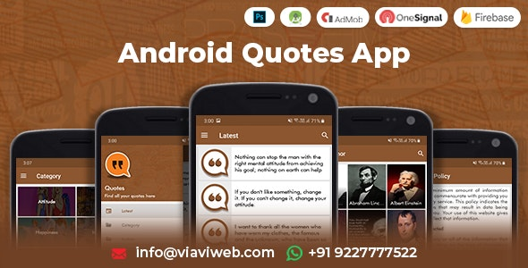 Android Quotes App - CodeCanyon Item for Sale