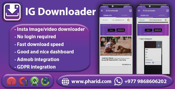 IG Downloader - Instagram Tool | Automatic, Images, Videos, Status Downloader