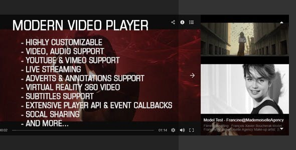 Modern Video Gallery Player