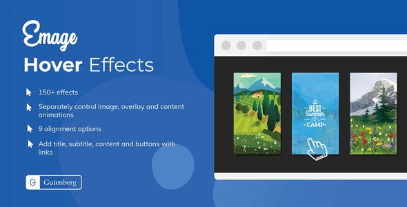 Emage - Image Hover Effects Block for Gutenberg - CodeCanyon Item for Sale