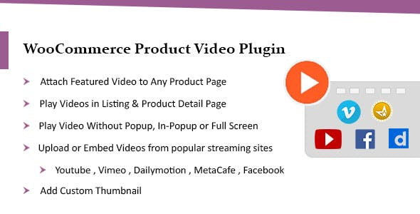 WooCommerce Product Video Plugin