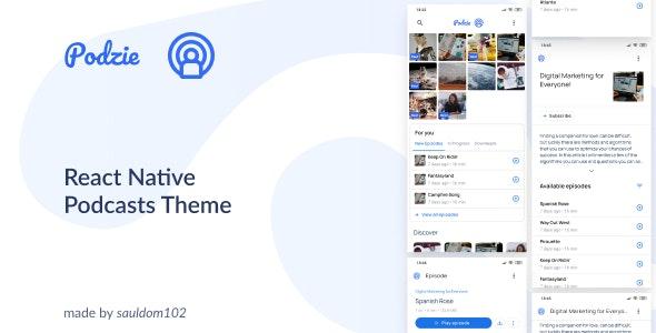 Podzie React Native Theme - CodeCanyon Item for Sale