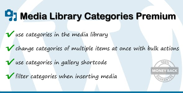 Media Library Categories Premium
