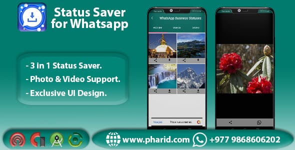 Status Saver for Whatsapp - Viral App | WA GB | WA | WA Business | Material Design