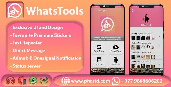 WhatsTools - Premium Whatsapp Tools | Beautiful UI, Admob, Push Notification - CodeCanyon Item for Sale