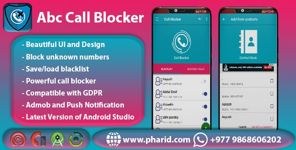 Abc Call Blocker - Admob, Firebase Push Notification, In-App Purchase, Admin Panel - CodeCanyon Item for Sale