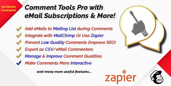 Comment Spam Protection, Image, Video Attachment, Mailing List Opt-in