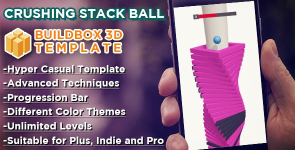 Crushing Stack Ball - Buildbox 3D Hyper Casual Template