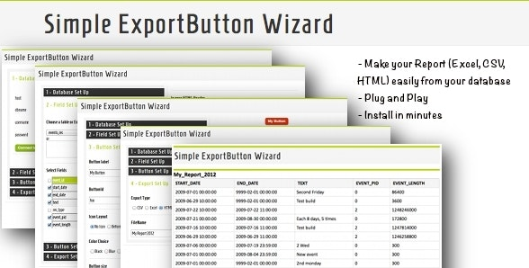 Export Button Wizard by david75 | CodeCanyon