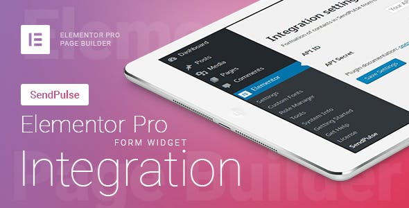 Elementor Pro Form Widget - SendPulse - Integration