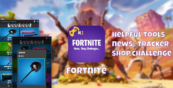 Fortnite Battle Royale Helpful Tools with GDPR (news,challenges,tracker,Shop)