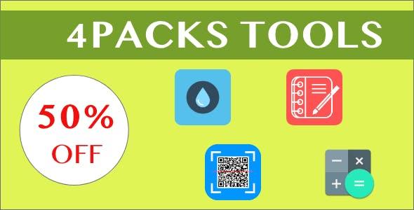 4 Source Code Pack|Expense Tracker|WaterTracker & Reminder|Scientific Calculator|QR/BAR Code Scanner