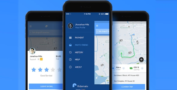 Ridemate - Ridesharing iOS App Template - CodeCanyon Item for Sale