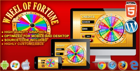 Wheel of Fortune - HTML5 Casino Game by codethislab | CodeCanyon