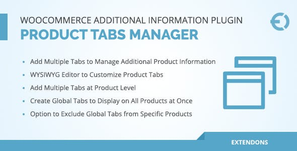 WooCommerce Additional Information Plugin - Product Tabs Manager