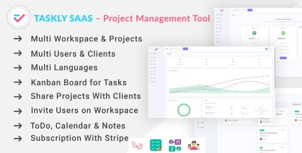 TASKLY SaaS – Project Management Tool by alpeshrajodiya