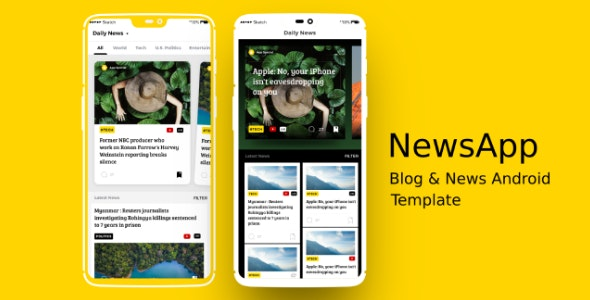 NewsApp - News & Blog Android App Template by appifyxyz
