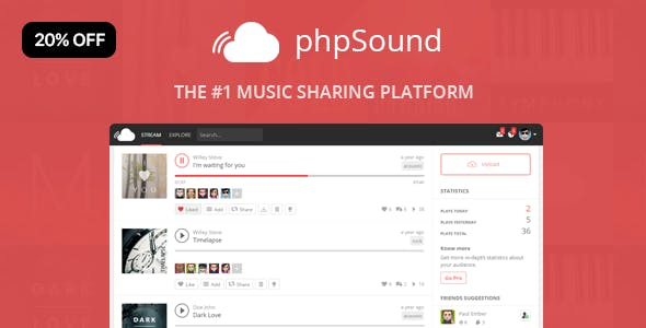 Soundcloud Clone Plugins, Code & Scripts from CodeCanyon