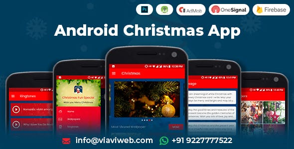 Android Christmas App (Xmas Wallpapers, Ringtones, Messages, Quiz)