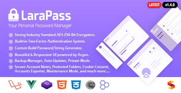 LaraPass - Your Personal Password Manager - CodeCanyon Item for Sale