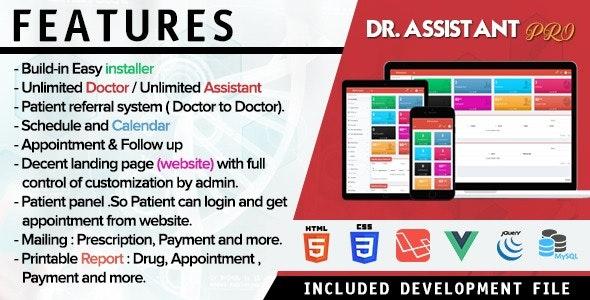 Dr Assistant PRO - Patient Appointment Management System in Laravel