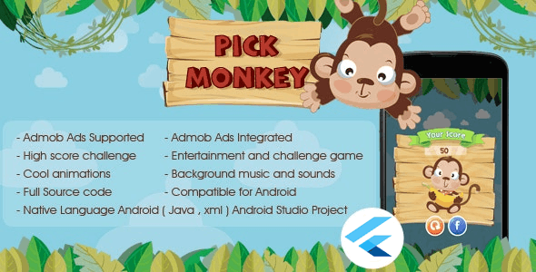 pick Monkey Android & iOS Admob Ads