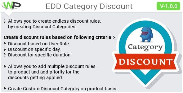 EDD Category Discount