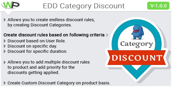 EDD Category Discount - CodeCanyon Item for Sale