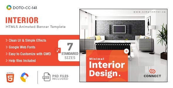 Interior-HTML5-Banners - 7 Sizes