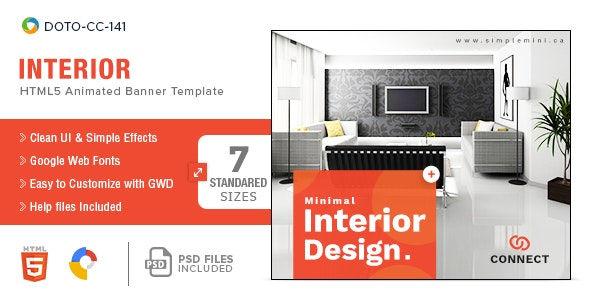 Interior-HTML5-Banners - 7 Sizes - CodeCanyon Item for Sale
