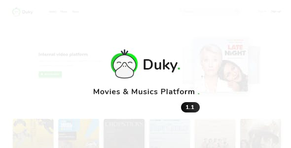 Duky - Movies & Music Platform