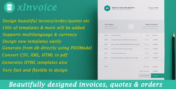 xInvoice - Generate beautifully designed invoices dynamically - CodeCanyon Item for Sale