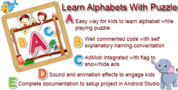 Learn Alphabets with Puzzle Game - CodeCanyon Item for Sale