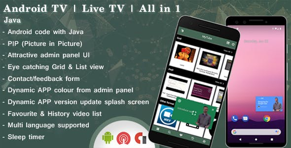 Android TV App Plugins, Code & Scripts from CodeCanyon