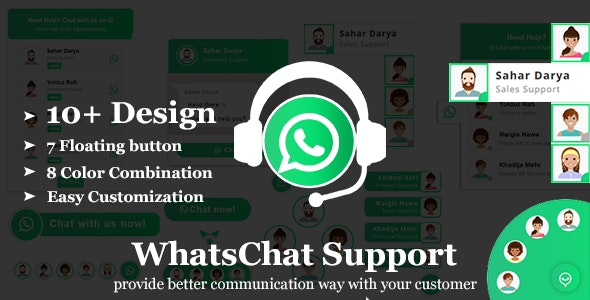 WhatsChat-WhatsApp Chat Widget jQuery Plugin - CodeCanyon Item for Sale