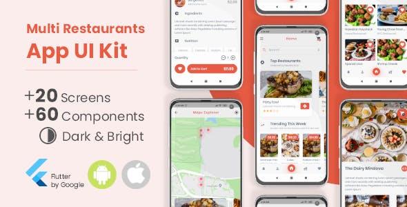 Multi Restaurants Flutter App UI Kit