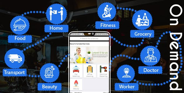 Demand Services Providers/Users iOS App & Web Dashboard
